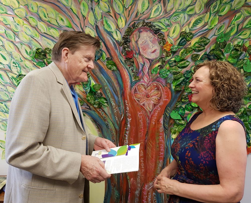 West Vancouver-Capilano MLA Ralph Sultan and Centre Manager Heide Mayne at the North Shore Open House event on June 1